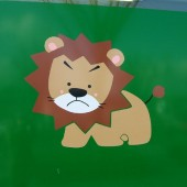unhappy lion